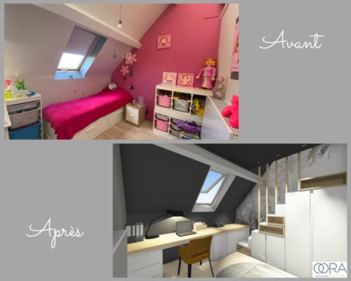 Projet-chambre-ado Avant-Après 1